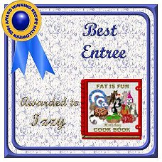 Izzy's award for Entrees
