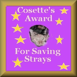 Cosette's Award for Saving Strays